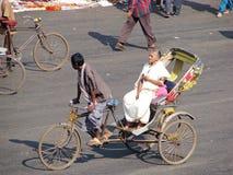 W Puri cyklu riksza Fotografia Royalty Free