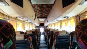 W pustym autobusie Zdjęcia Royalty Free