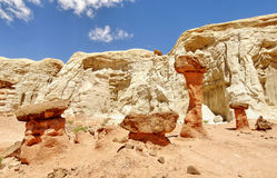W pustyni rockowa formacja Zdjęcia Stock