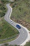 W Pyrenees wężowata droga. obraz royalty free