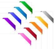 W różnorodnych kolorach narożnikowi faborki Zdjęcie Royalty Free