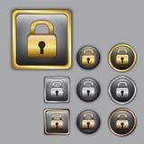 W różnym kolorze kłódek ikony Obraz Stock