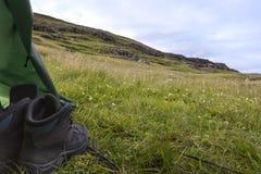 W ranku widok od namiotowego indie szerokiego krajobrazu Obraz Royalty Free