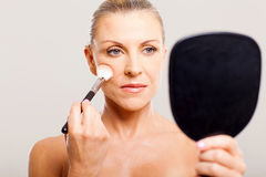 W średnim wieku makeup Fotografia Stock