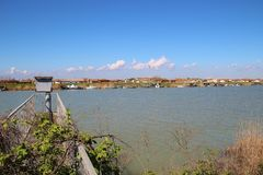 W regionie Delta Del Po, naturalny raj Włochy Fotografia Stock