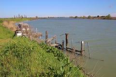 W regionie Delta Del Po, naturalny raj Włochy, Europa Zdjęcia Stock