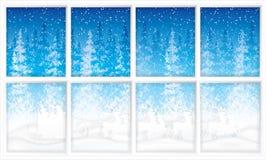 W reniferowym saniu Święty Mikołaj przejażdżki ilustracji
