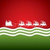 W reniferowym saniu Święty Mikołaj przejażdżki Obraz Stock