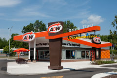 A&W Restaurant in retro style Royalty Free Stock Photography