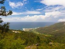 W Rias Oia wybrzeże Baixas Fotografia Royalty Free
