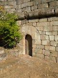 W Ribadavia kasztelu średniowieczny drzwi Obraz Stock