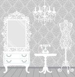 W roczniku kobieta pokój, boudoir styl Zdjęcia Stock