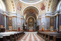 Wśrodku bazyliki St Adalbert w Esztergom Obraz Stock