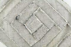 wśrodku deseniowego patchworku drelichowa tkanina Fotografia Stock