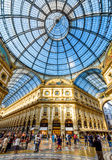Wśrodku Galleria Vittorio Emanuele II w Mediolan Fotografia Royalty Free