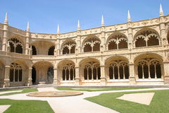 w środku jeronimos klasztor Obraz Royalty Free