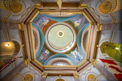 Wśrodku kolumbiego brytyjska Prawodawczego budynku w Wiktoria, Britis Obrazy Stock