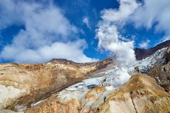 Wśrodku krateru Mutnovsky wulkan Obraz Royalty Free