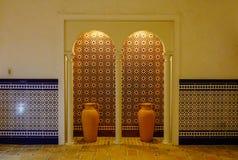 Wśrodku luksusowego ceglanego hotelu Zdjęcia Stock