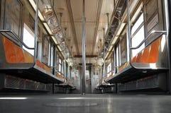 Wśrodku Miasto Nowy Jork wagonu metru Fotografia Royalty Free