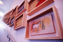 Wśrodku muzeum sztuki Zdjęcie Royalty Free