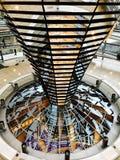 Wśrodku Niemieckiego Reichstag, parlament Obrazy Stock
