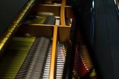 w środku pianino Obrazy Royalty Free