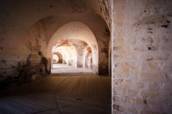 Wśrodku sala przy fortem Pulaski Obraz Royalty Free