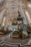 Wśrodku St Maryjnej katedry, Novi Sad, Serbia Obraz Stock