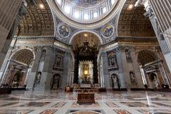Wśrodku St Peter bazyliki w watykanie Obraz Stock