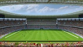 Wśrodku stadionu futbolowego 3d renderingu Obrazy Royalty Free