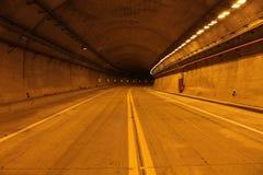 w środku tunelu Zdjęcie Stock