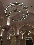 Wśrodku Uroczystego meczetu Zdjęcia Royalty Free