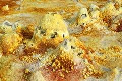 Wśrodku wybuchu krateru Dallol wulkan, Danakil depresja, Etiopia Obrazy Royalty Free