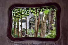 Wśrodku Yu ogródu w Szanghaj Zdjęcia Royalty Free
