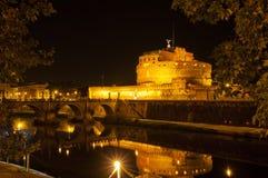W Roma grodowy Sant Angelo zdjęcia royalty free