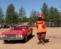 A And W Rootbear With Restored Ford Royalty Free Stock Image