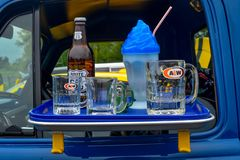 A&W Rootbeer Frosty Mug, Route 66, commande dans l'affichage image stock