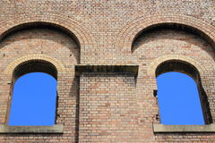 W ruinie dwa okno Obrazy Stock