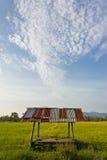 W ryżu gospodarstwie rolnym buda Zdjęcie Royalty Free