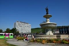 Würzburg, Germany - Fountain near Central Railway Station Royalty Free Stock Photo