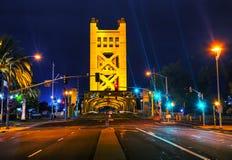W Sacramento złoci wrota drawbridge zdjęcia stock