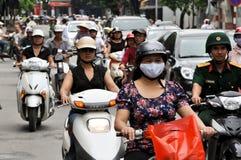 W Saigon ciężki ruch drogowy Fotografia Royalty Free
