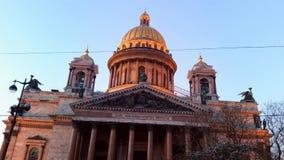 W Saint-Petersburg Isaac świątobliwa Katedra Obraz Royalty Free