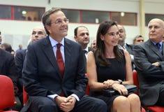 W Saloniki Antonis Samaras obraz royalty free