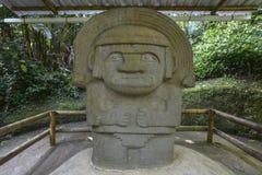 W San antyczne statuy Agustin, Kolumbia Fotografia Royalty Free