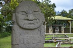 W San antyczne statuy Agustin, Kolumbia Obrazy Royalty Free