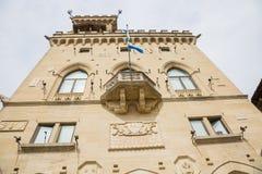 W San jawny Pałac Marino San marino republiki San marino Zdjęcie Royalty Free