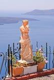 W Santorini wyspie Aphrodite statutue Zdjęcie Stock