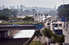 W Sao Tiete Rzeka Paulo, Brazylia obraz stock